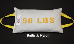 50 pound Ballistic Nylon Shot Bags from Metaltec Steel Abrasive Co.