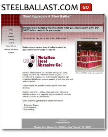 Ballast Material from Metaltec Steel Abrasive Co.